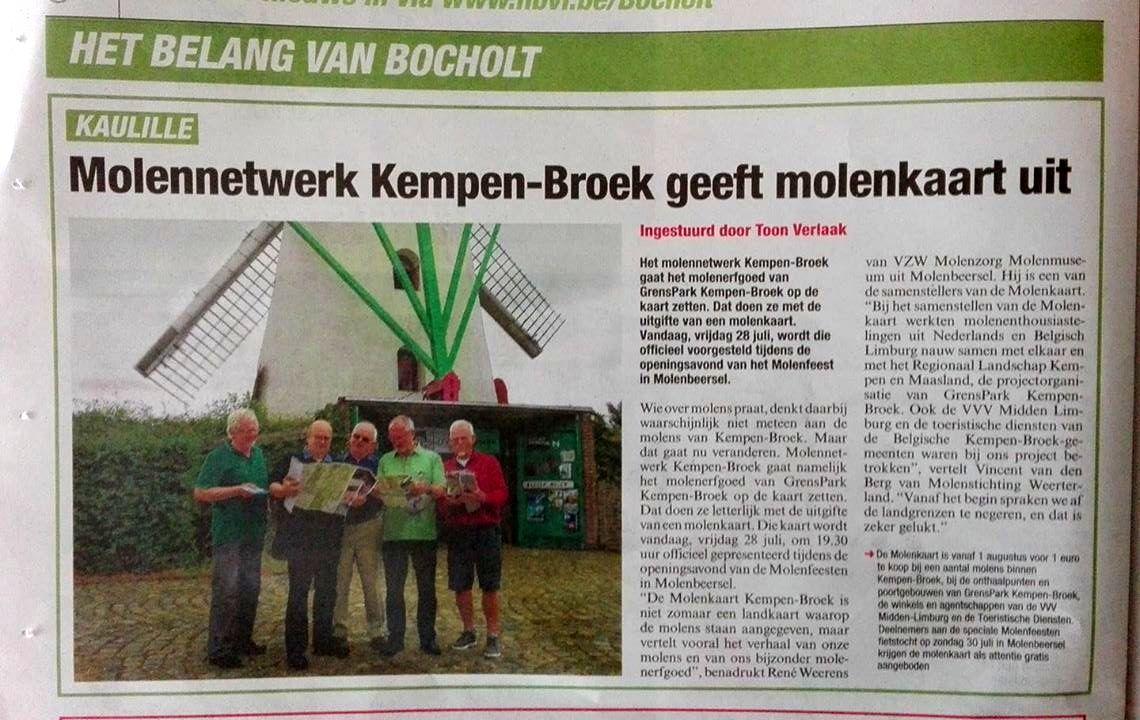 Belang van Limburg molenkaart